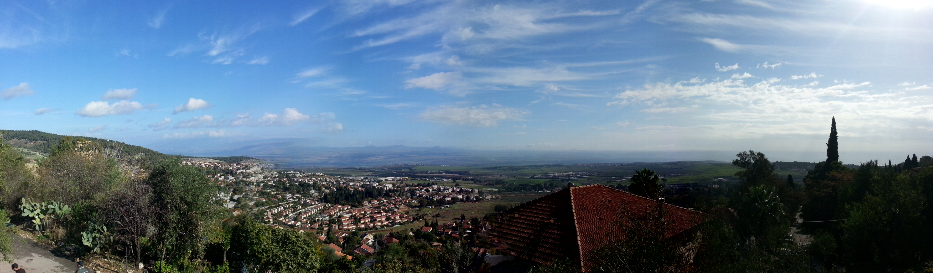 View over Rosh Pina from Mitzpe Nimrod
