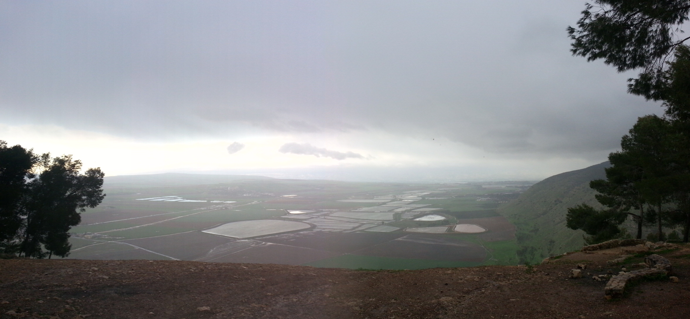 View from Mt Barkan on the Gilboa