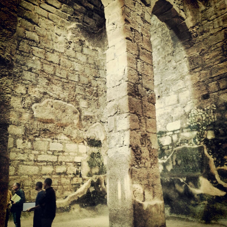 Inside a vast cistern at St Euthymius Monastery