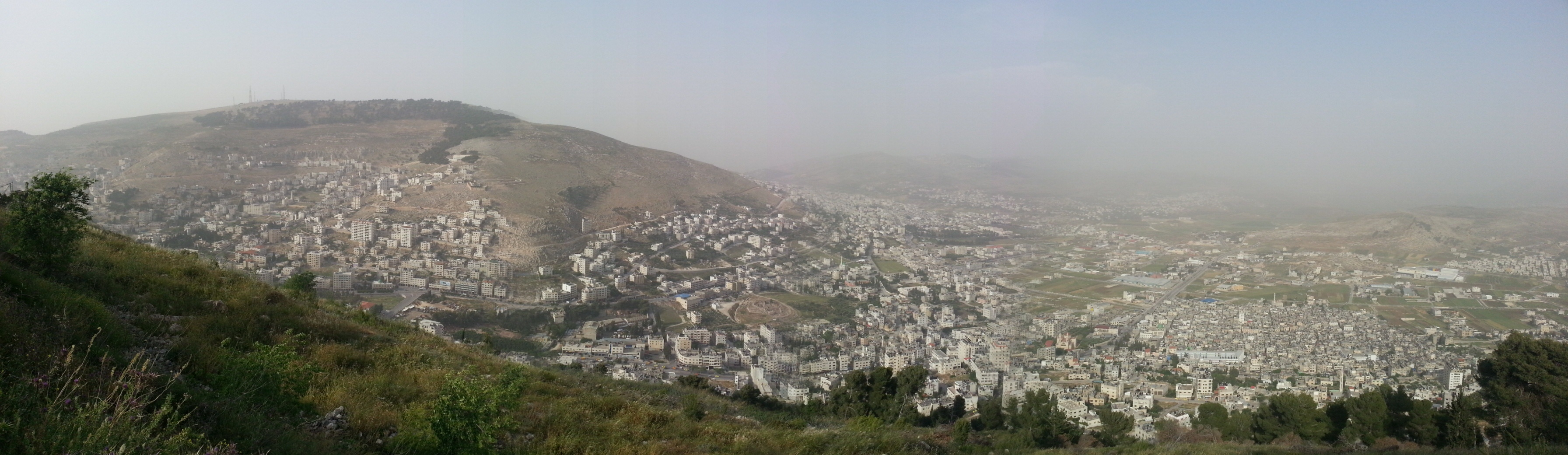 View over Nablus / Shechem from Mt Gerizim