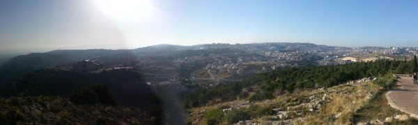 View over Nazareth from Mount Precipice