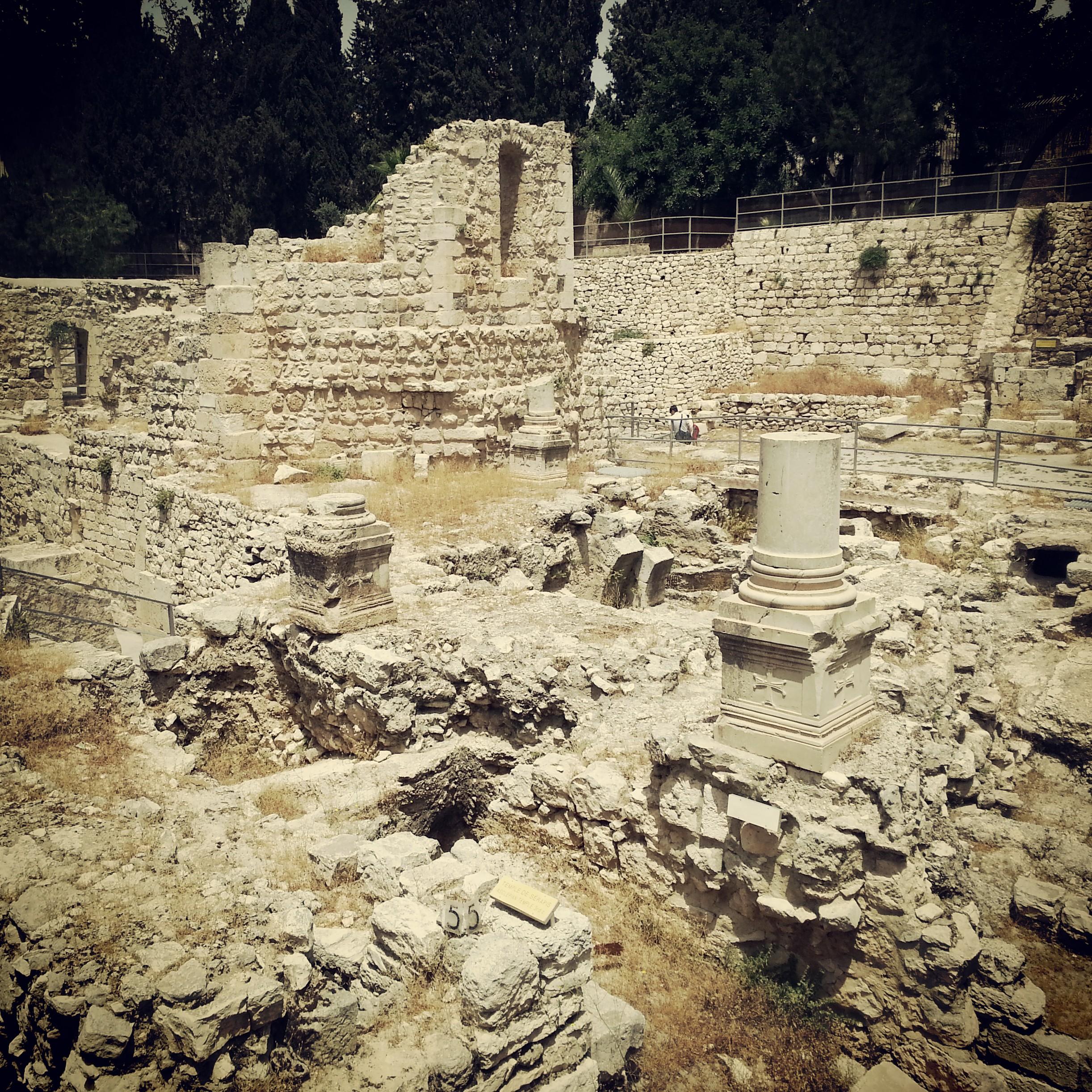 Ruins at Bethesda, Jerusalem