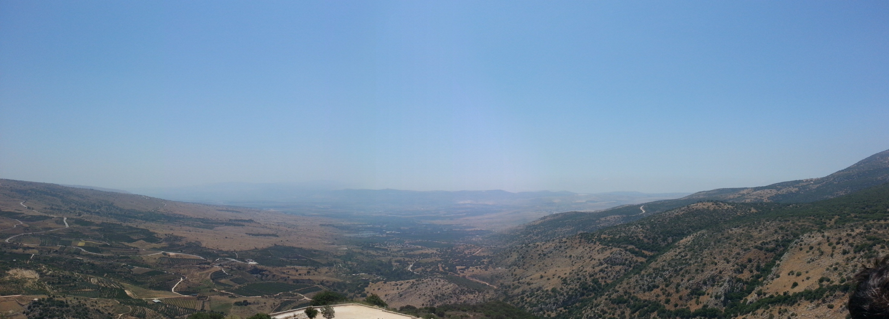 View over the Hula Valley from the Nimrod Fortress