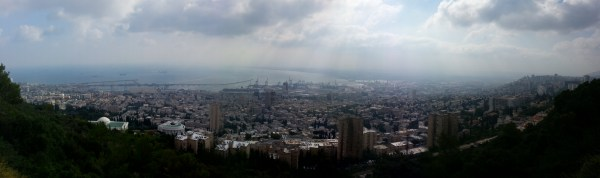 View over Haifa from the Louis Promenade