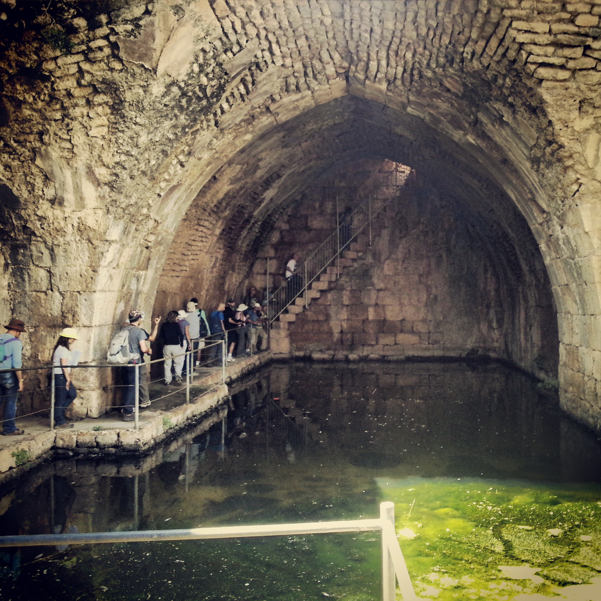 Huge cistern in the Nimrod Fortress
