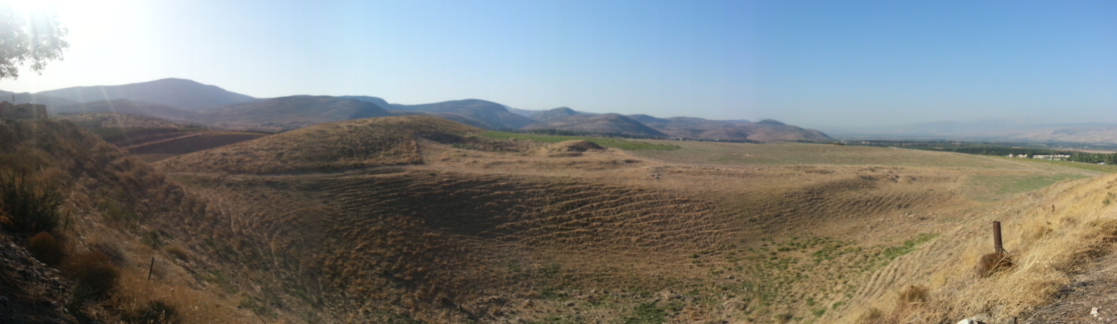 View from the acropolis at Tel Hazor