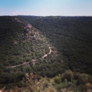 View over Montfort castle from Goren Park