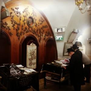 Inside the tomb of Rabbi Shimon Bar Yochai (the Rashbi)