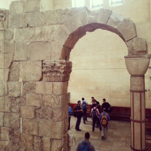 Roman or Byzantine arch in the Alexander Nevsky Church, Jerusalem