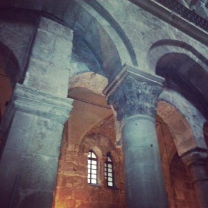 Arches of Monomachos together with later crusader arches in the Church of the Holy Sepulchre