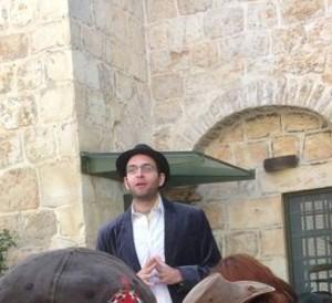 Guiding as Dr Conrad Schick in Beit Tavor