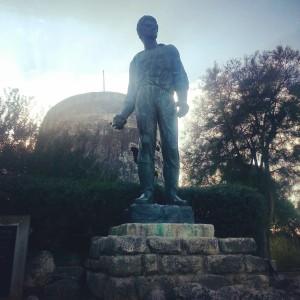 Statue of Mordechai Anielewicz at Yad Mordechai Kibbutz