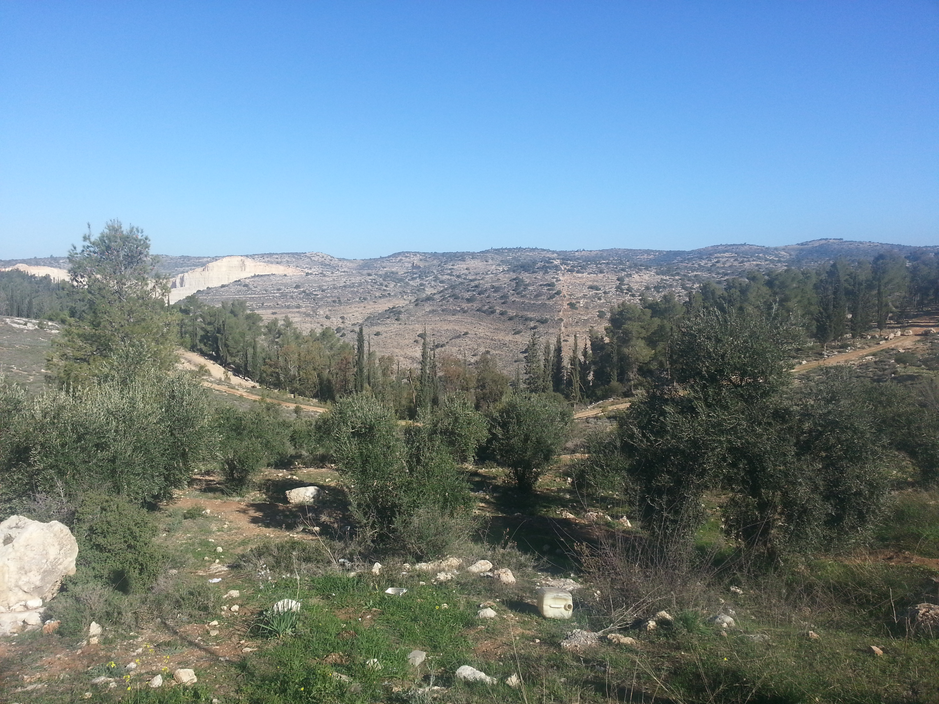 View out to the hill upon which the Lamed Hei made their final stand
