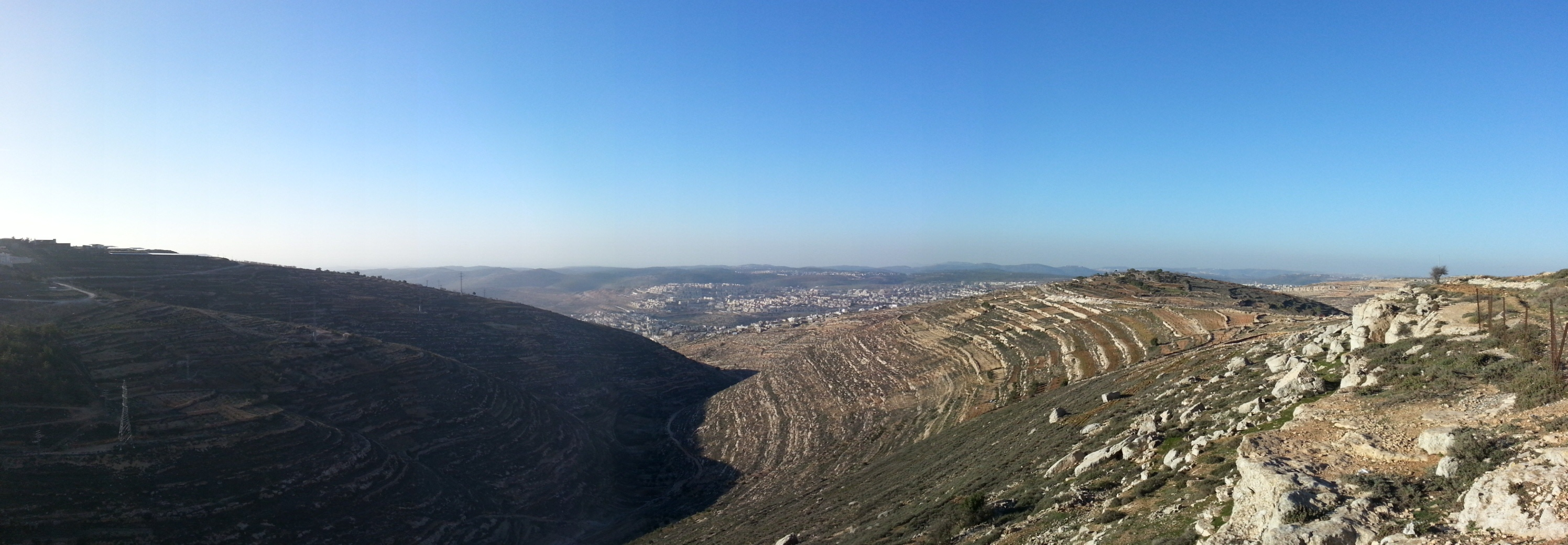 View over the Judean Hills from Derech HaAvot