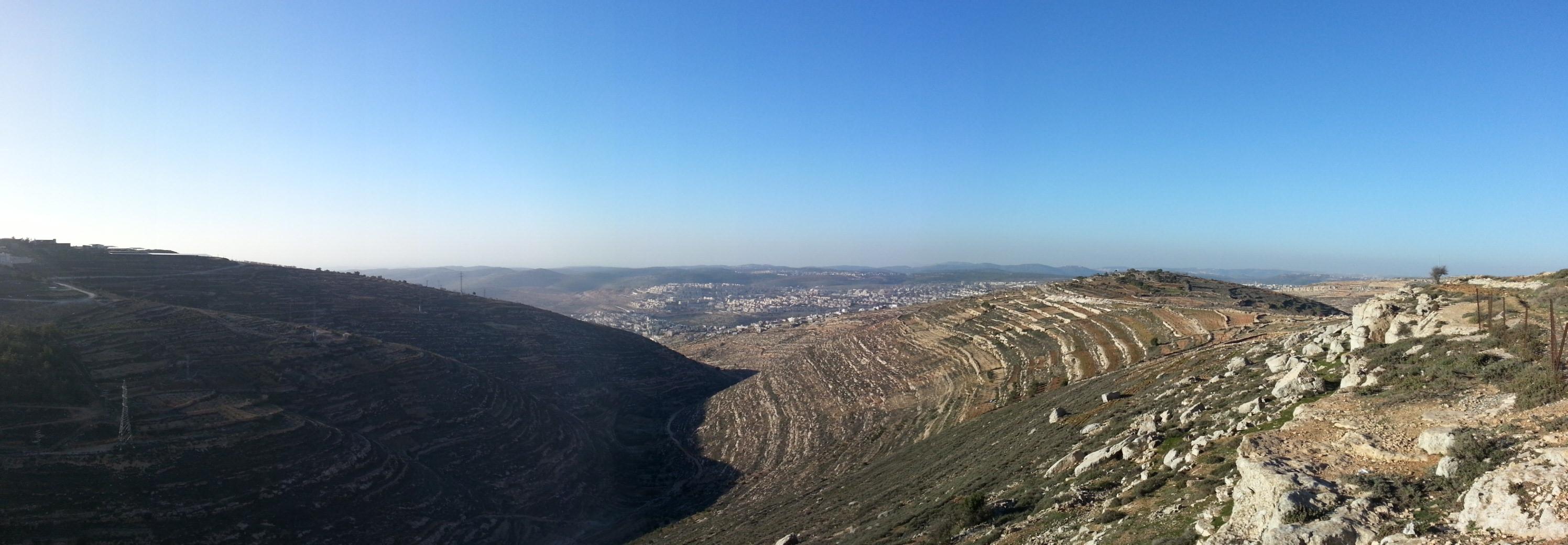 View over the Judean Hills from Derech HaAvot