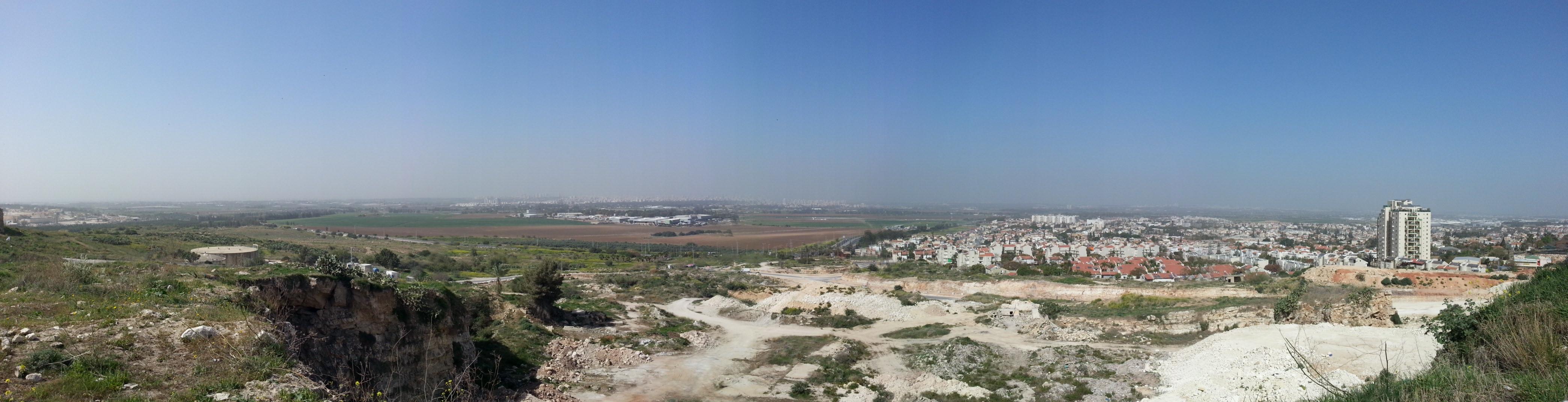 View from Izbet Sartah