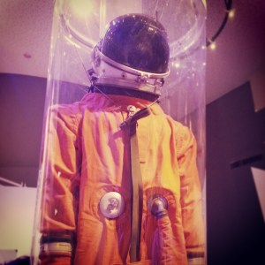 Replica of Ilan Ramon's spacesuit in the Ramon Crater Visitors' Centre