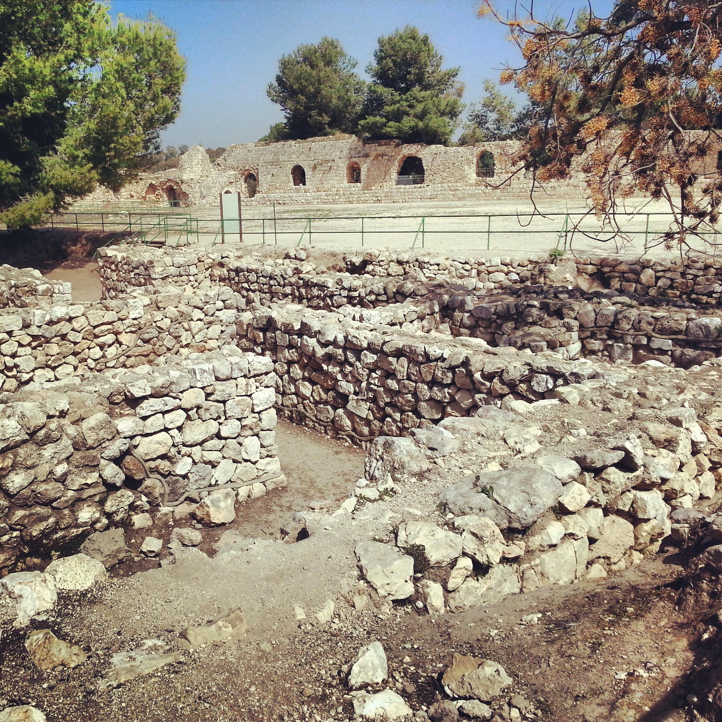 Canaanite ruins at Tel Afek