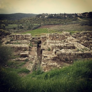 Israelite gate at Tel Gezer