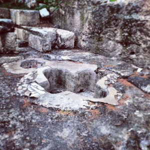 Byzantine period baptistery at ancient Emmaus