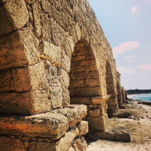 Remains of the Caesarea aqueducts