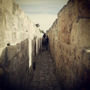 Walking the Old City ramparts in Jerusalem