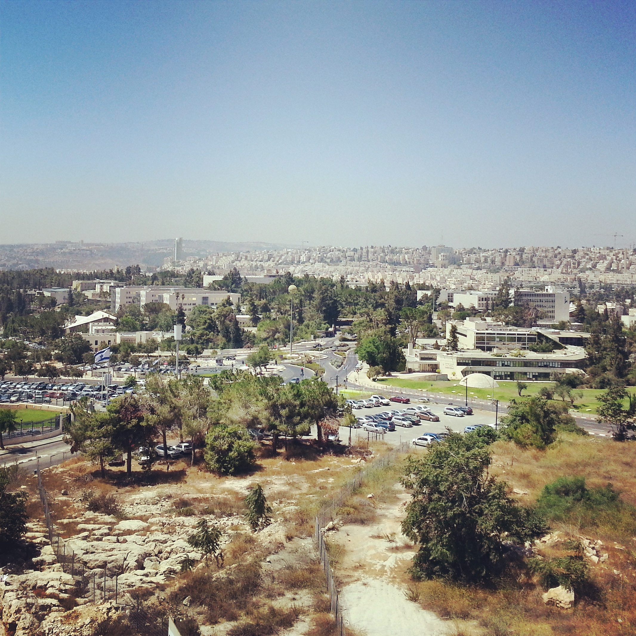 View over Jerusalem from the Ministry of Tourism