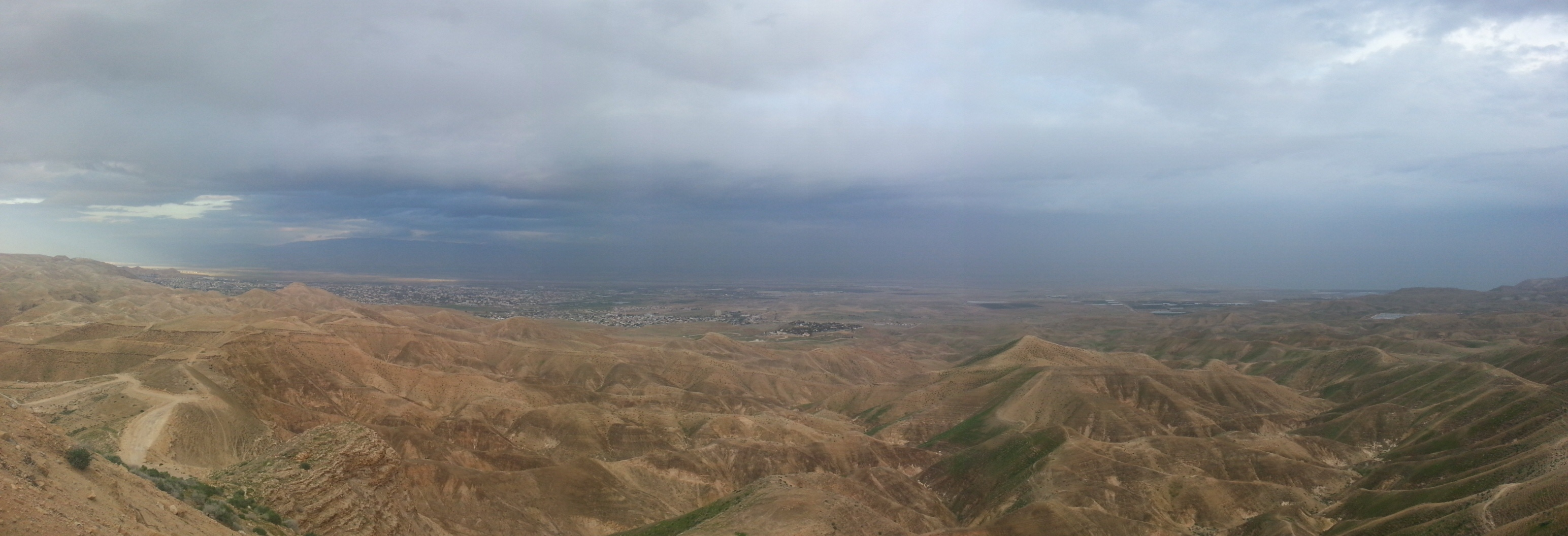 View over Jericho and its surroundings from the Dead Sea Balcony