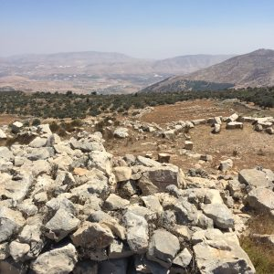 View over Tirtza Valley from the Israelite altar on Mt Ebal