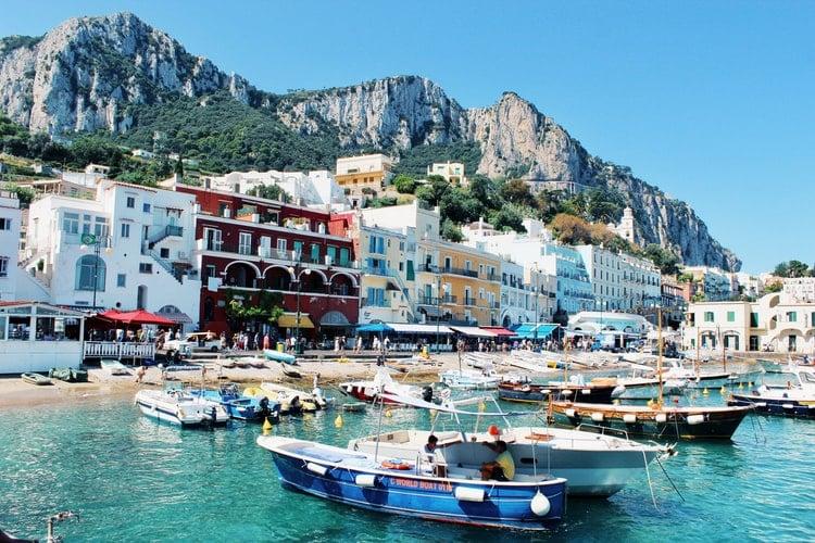 Capri Island Harbour Italy