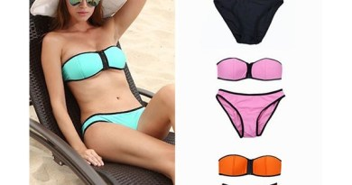 Bikini a fascia Arancione