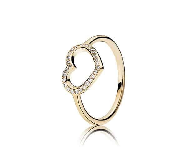 anello pandora cuore nel cuore