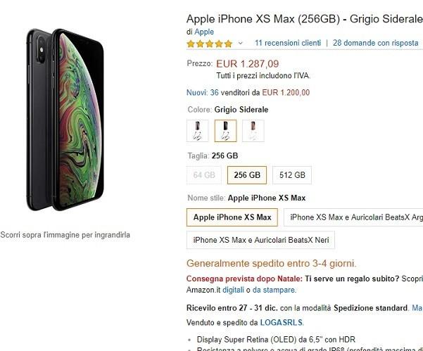 Qual e il miglior iPhone xs max da acquistare nel 2019