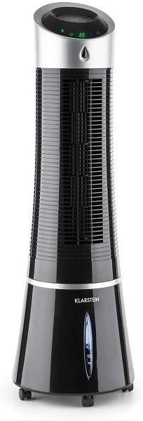 KLARSTEIN Skyscraper Ice - Sistema 4 in 1: Raffrescatore Evaporativo, Ventilatore, Umidificatorte, Ionizzatore è un modello di condizionatore portatile che offre anche un bel tocco di design