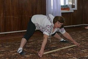 Галина Павловна Павленко, руководитель физкультурной группы «Территориального Центра Социальной Помощи Изюма»