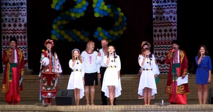 Праздничный концерт в Изюме