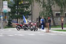 С государственным флагом Украины по городу
