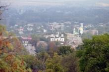 Прекрасный вид с горы Кремянец города Изюм