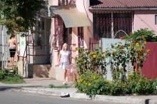 По улице Соборной у филиала Приватбанка