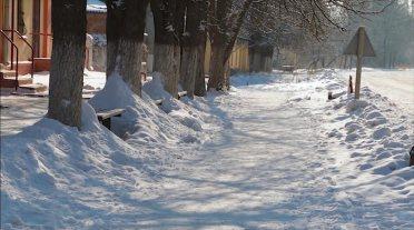 Кадр из видео Маши Бескорской о зимнем Изюме