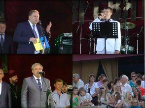 Исполнил гимн Изюма Александр Захарчук