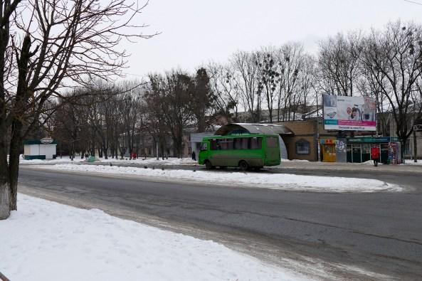 Отправление маршрутного автобуса на линию