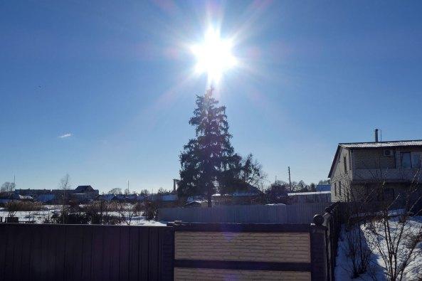 Солнце, как звездочка на елке. Красиво?