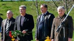 На фото слева направо: С.С. Беличенко, А.М. Полях, М.А. Ищук, В.Я. Лесик