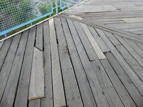 Требуется замена деревянного настила