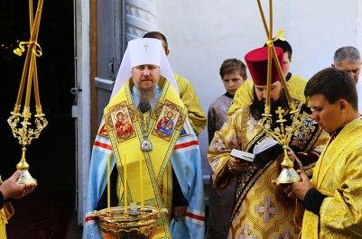 8 августа 2018 года, митрополит Изюмский и Купянский Елисей совершил освящение ново воздвигнутой колокольни в Преображенском храме города Изюма