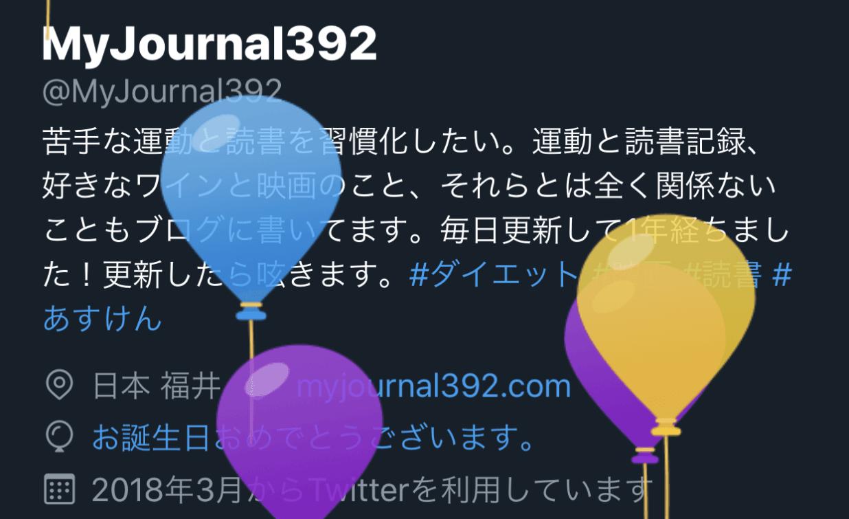 twitter 誕生日