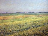 The Plain of Gennevilliers, Yellow Fields (Gustave Caillebotte)