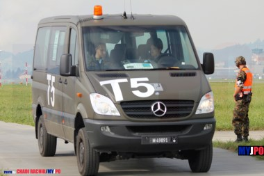 The Swiss Air Force Mercedes Benz 316 CDI Kleinbus at AIR14, Payerne, September 2014.