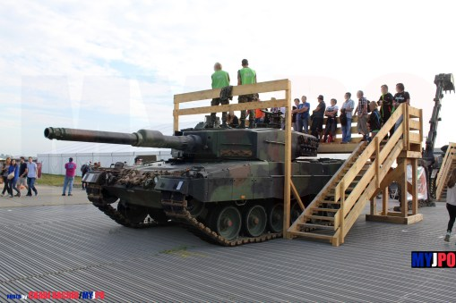 The Swiss Army Kampfpanzer 87 Leopard 2 at AIR14, Payerne, September 2014.